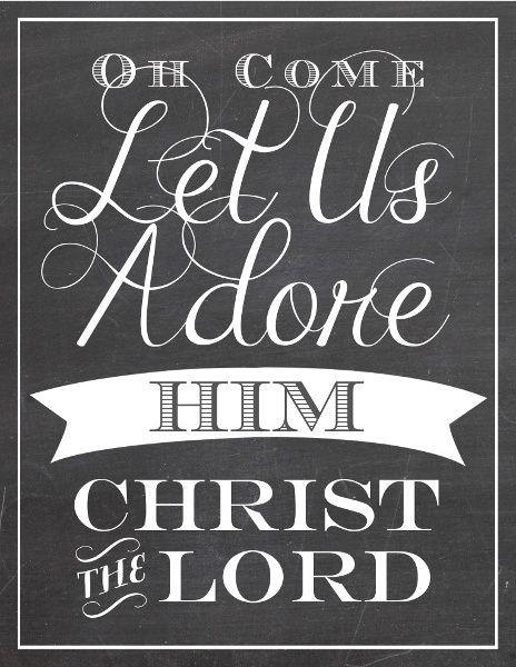 adore him - Christmas Scriptures